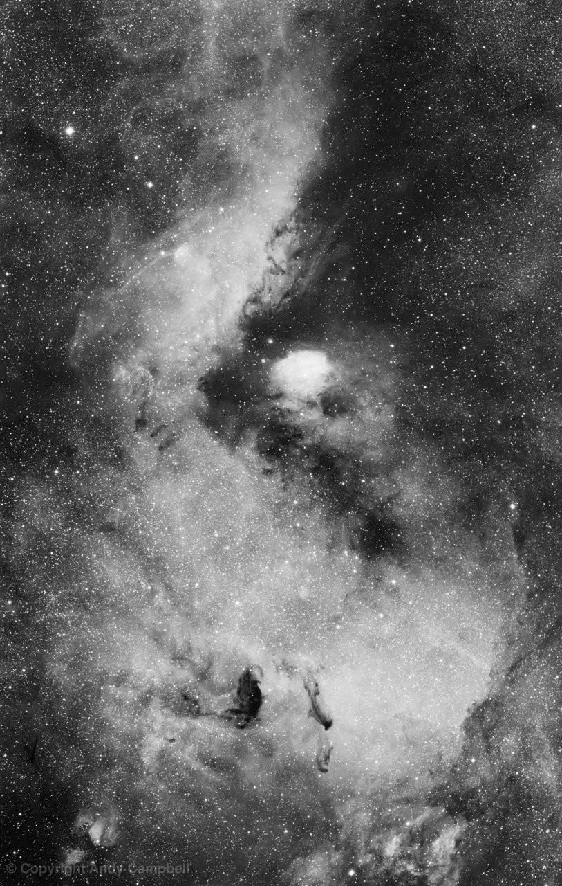 M24 nebula in Sagittarius in Ha - two panel Mosaic