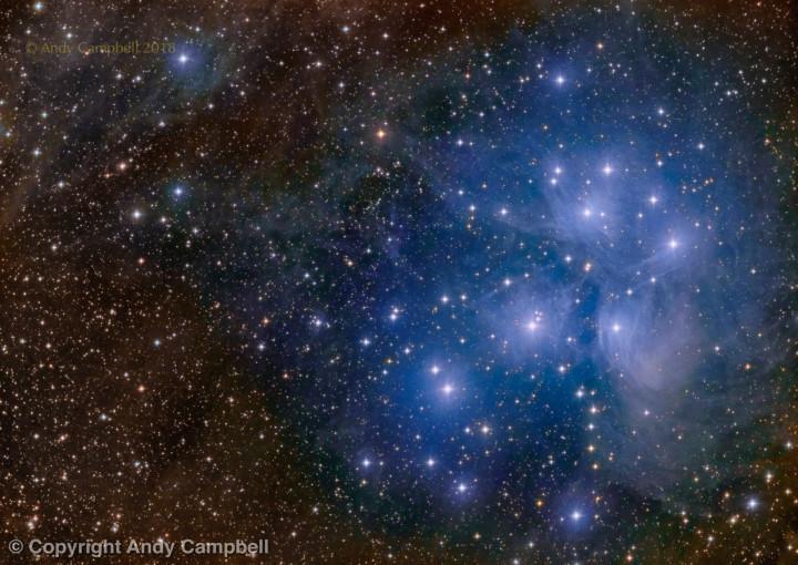 M45 Pleiades nebula stars