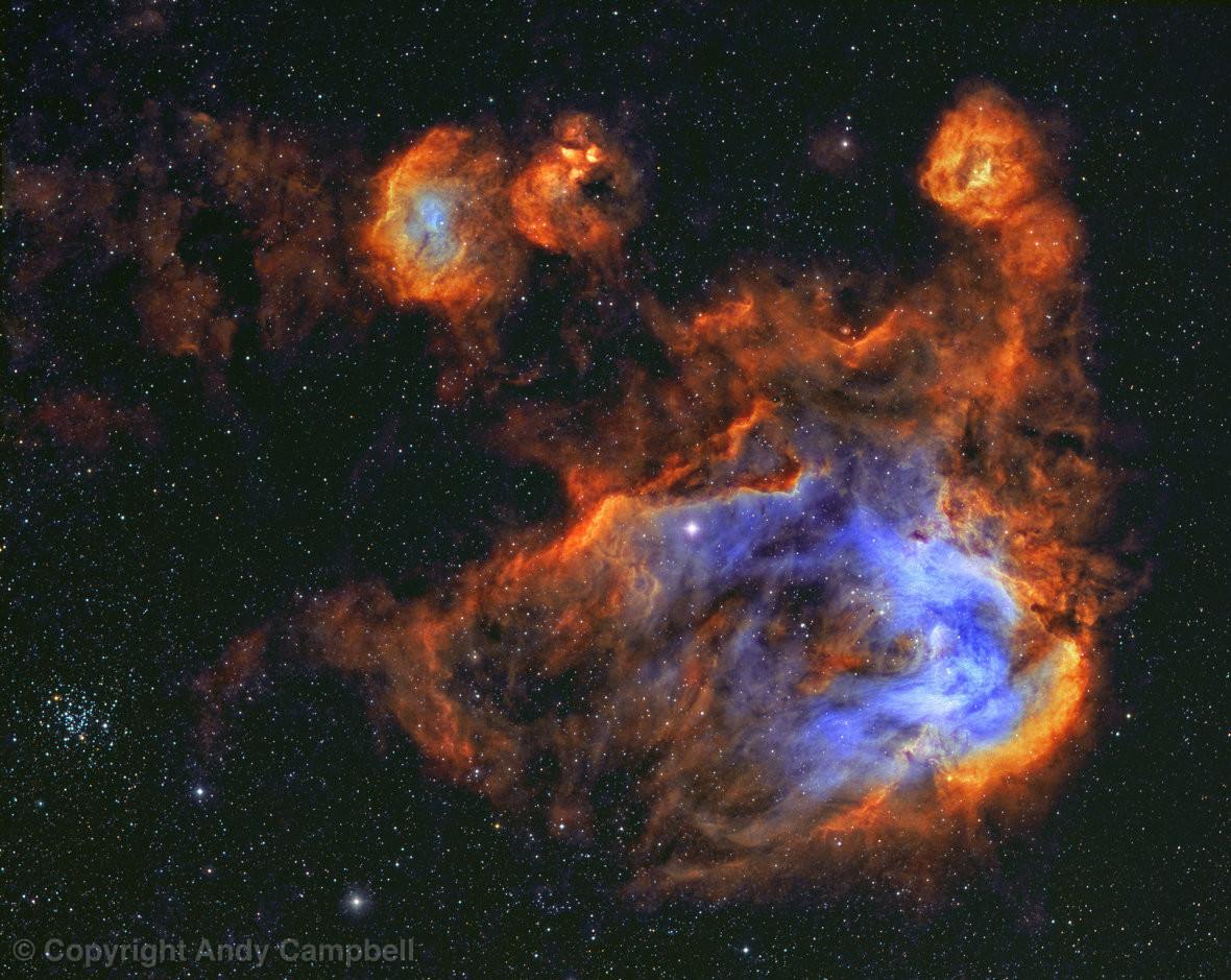 IC2944 Running Chicken Nebula narrowband image