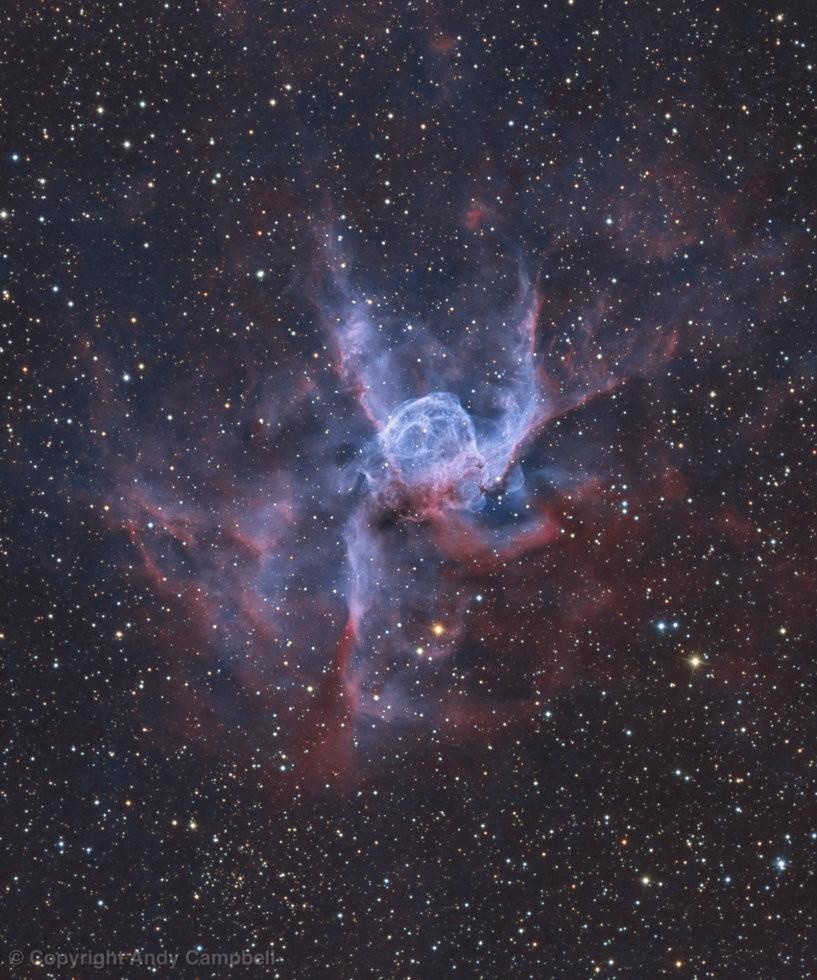 NGC 2539 Thors Helmet narrowband image nebula wolf-rayet star