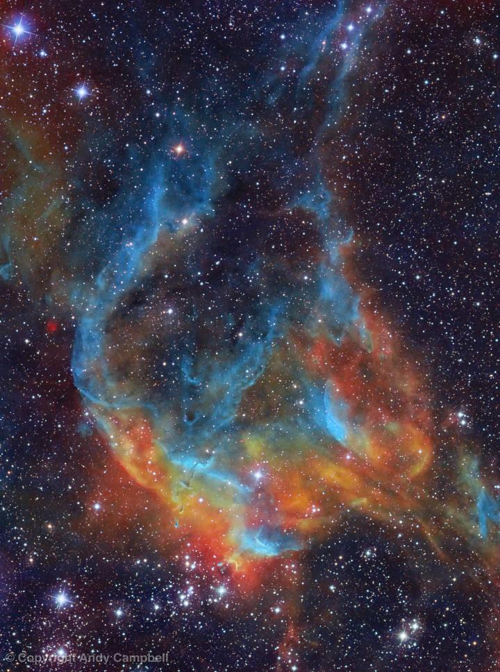 NGC 3572 Narrowband Nebula Carina