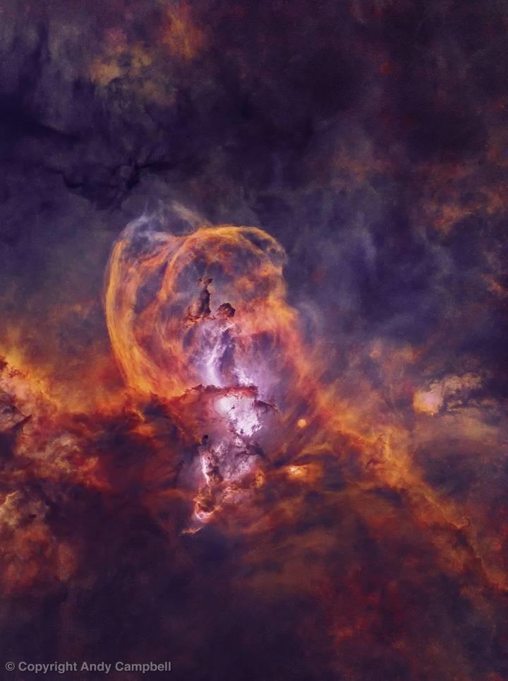 Statue of Liberty Nebula in Narrowband without stars
