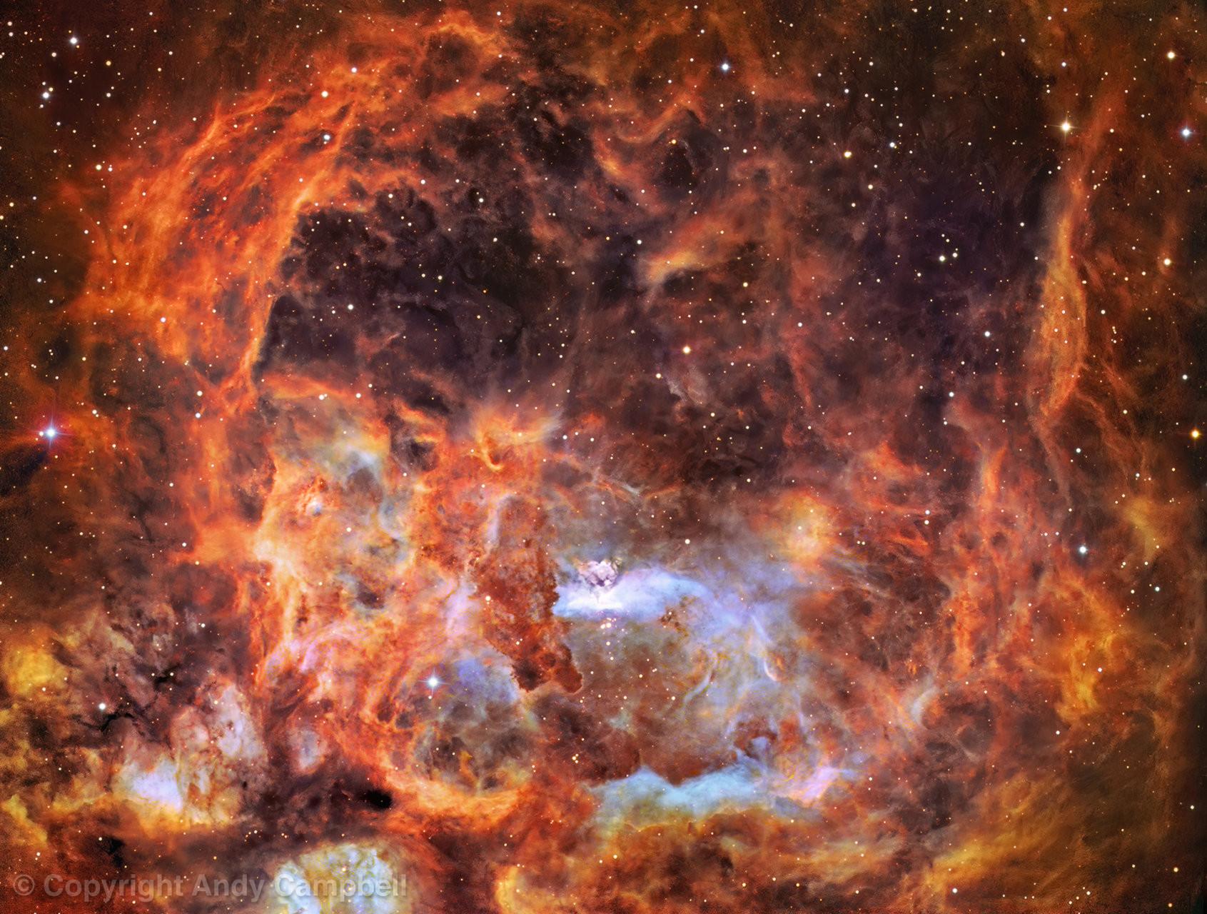 NGC 6537 Nebula in Narrowband