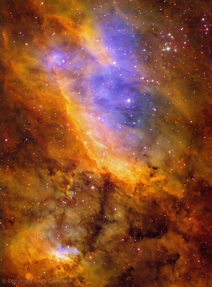 Prawn Nebula ic 4628 in Narrowband