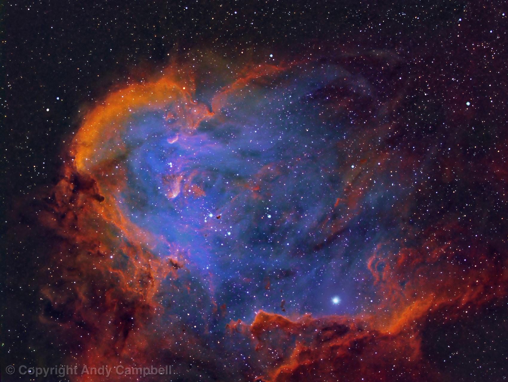ic 2944 Running Chicken Nebula in Narrowband